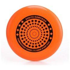 สีส้ม Flying จานรองจาน Disc การออกแบบการ์ตูนสีเหลือง Cross เล่นกลางแจ้ง Frisbee Orange.
