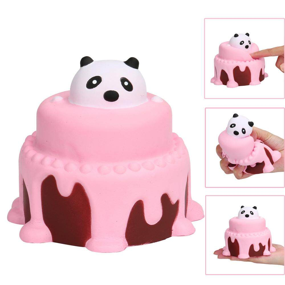 14cm Slow Rising Squishy Ice Cream Bear Cartoon Relieves Stress Toy Decompression Squeeze Toy Anti-anxiety Phone Straps Mobile Phone Straps