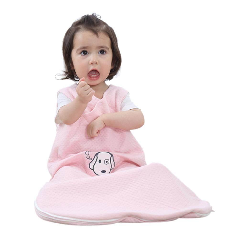 Ouhofus Bayi Sleeping Tas Wearable Selimut 100% Katun Sleepsack Di Musim Panas, Bayi Merah Muda, M.-Internasional