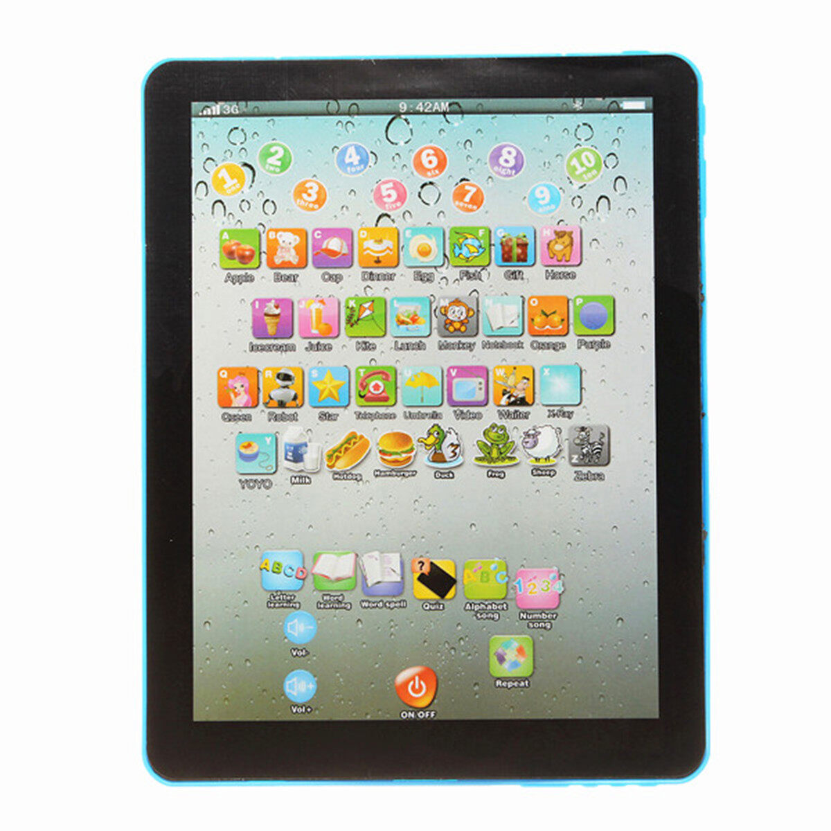 Hình ảnh Pad For Kid Child Learning English Educational Computer Mini Tablet Teach Toy Y Blue - intl