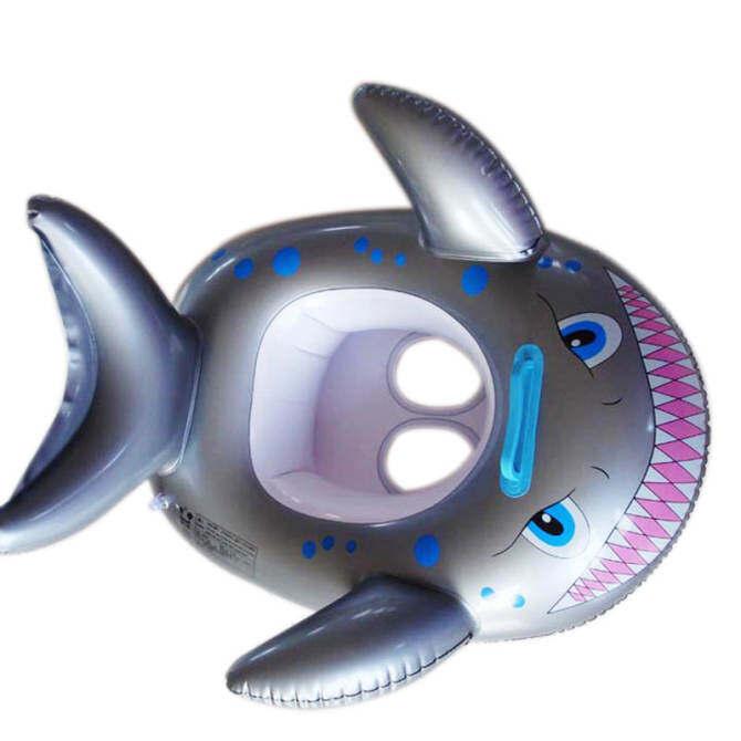 PAlight Kids Inflatable Swim Pool Float Fish Boat - intl