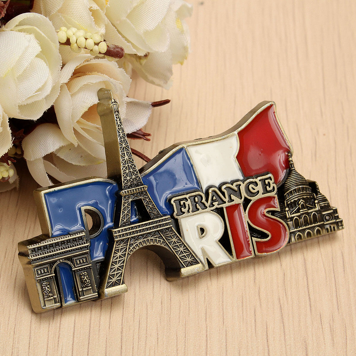 Hình ảnh Paris' Landmarks, France, Tourist Travel Souvenir 3D Metal Fridge Magnet Gift - intl