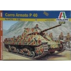 PentaQ Italy Italeri Yi Up Raleigh 6476 1/35 P40 Heavy Tank Model Plate