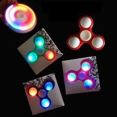 PentaQ Led Fidget Spinner Plastic Finger Tri Spinnerstress Anxiety Reducer Decompression Toys (Random Color)