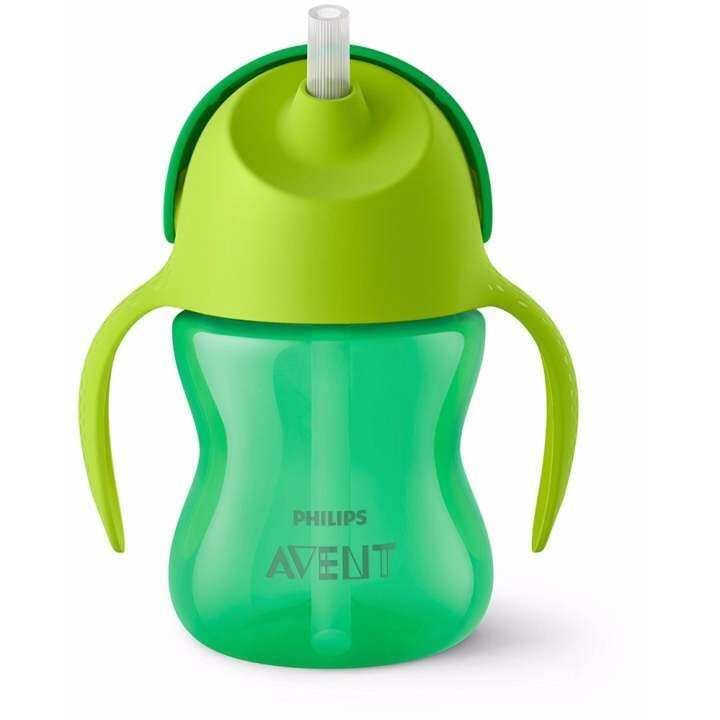 Philips Avent My Bendy Straw Cup With Handle 7oz 9m+ Green