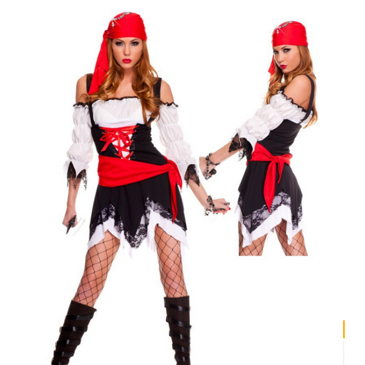 Halloween Pirate Service Pirate a Fancy Dress Ball Adult Cosplay Female Costume