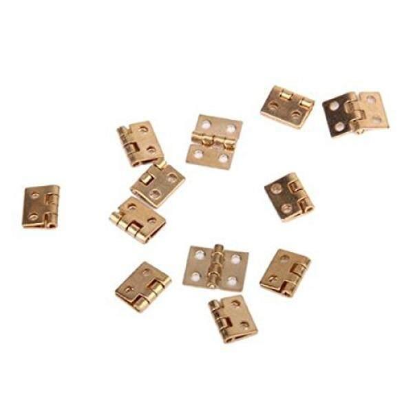 Pixnor 12 Pcs Kabinet Lemari Mini Engsel dengan 48 Pcs Sekrup untuk Rumah Boneka 1:12 Mini Ature Furniture (Emas) -Internasional