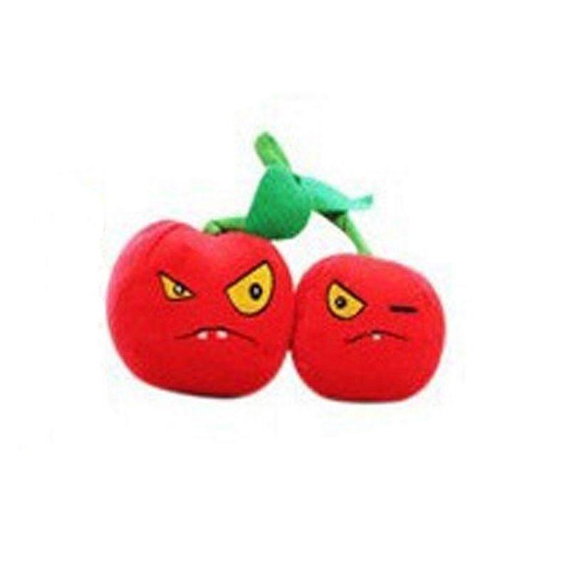 Plants vs Zombies PVZ Figures Plush Staff Soft Cherry Baby Stuffed Toys Double