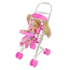 Plastic Furniture Infant Carriage Stroller For Barbie Doll By Coromose.