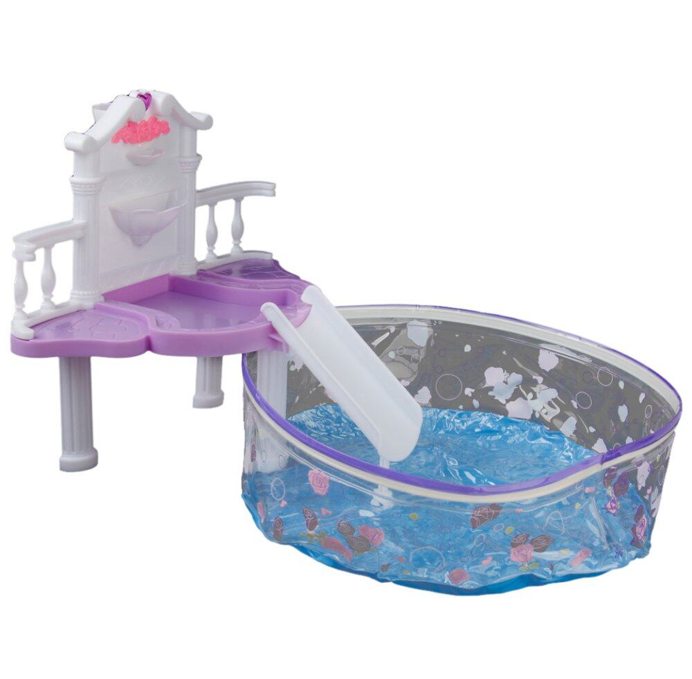 Hình ảnh Plastic Furniture Waterfall Fantasy Pool Play Set For Doll - intl