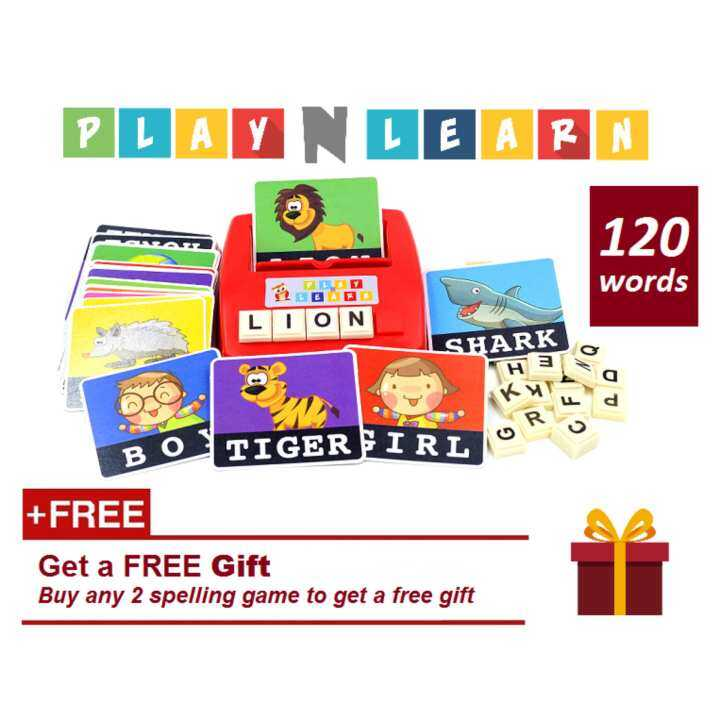 Learning Planet PlayNLearnToy.com Children English Spelling Fun Game (Literacy Fun Game) Educational Toy  Flash Card  Learning & Education  Dyslexia  Early Learning  Reading