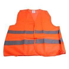 Polyester Fabric Reflective Safety Vest Jacket Orange
