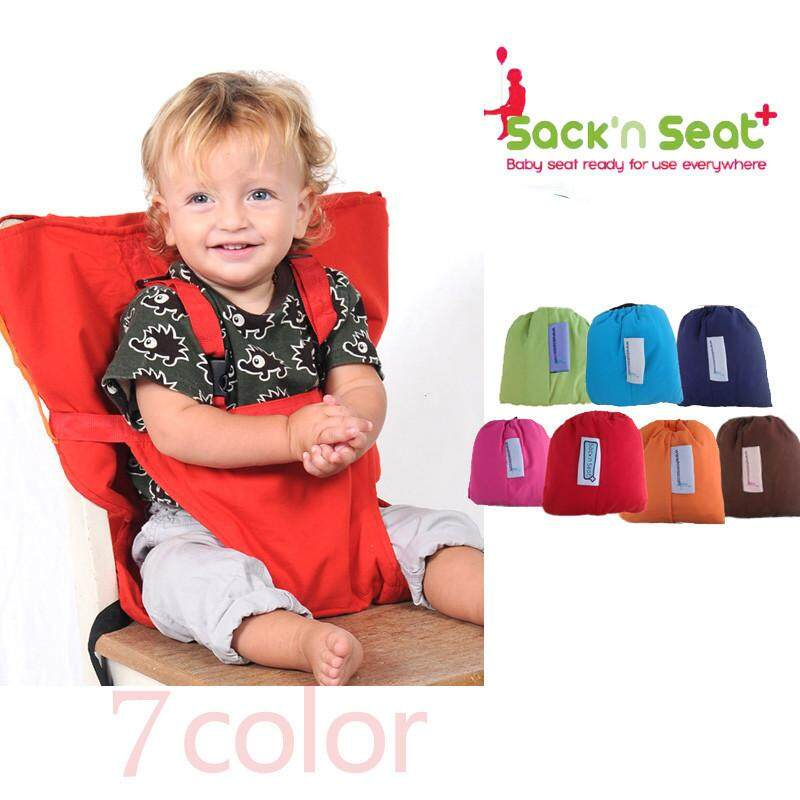 Portable Baby Kids Dining Chair Child High Chairs Seat Belts Safety Belt Folding Dining Feeding Chair Harness - intl