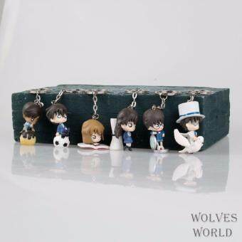 Q version 6 out of budgeting conan pendant doll key ring/buckle kidd xiaolan ash original hattori was hanging flat time - intl