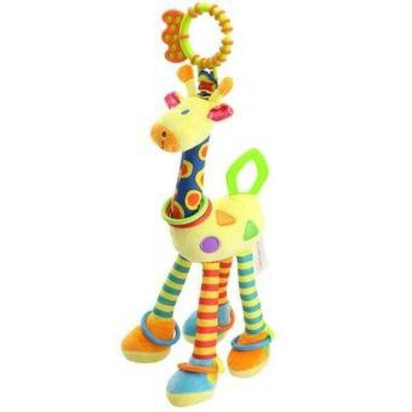 Shock price Quality deer plush toys bed baby mobile hanging baby rattle toygiraffe with bell ring