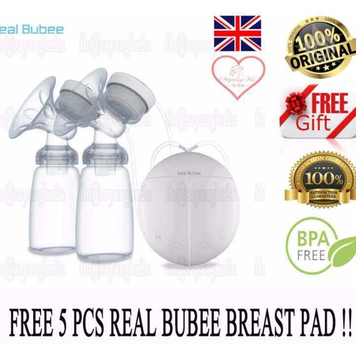 [Ready Stock + Warranty] 100% ORIGINAL Real Bubee Electric Automatic Dual Breast Pump Free breast pad