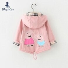 Rhs Baby Girl Cartoon Pig Floral Print Coat (pink) By Rhs Online.