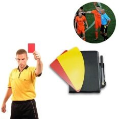 Rorychen 4 Set Of Football Referee Red Card + Yellow Card + Pen + Record The Referee Must Have Set By Excellent Trading.