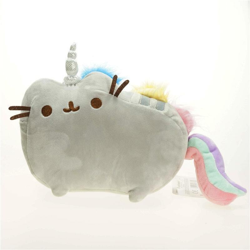 Rorychen Unicorne Rainbow Horse Cat Plush Doll Cos Fat Geek Pusheen Grab Machine Plush Doll(