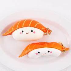 Rp 46.000. Mainan Squishy Bentuk Salmon Sushi 12 Cm Lambat Rising dengan Kemasan Kaus Hangat Huruf ...