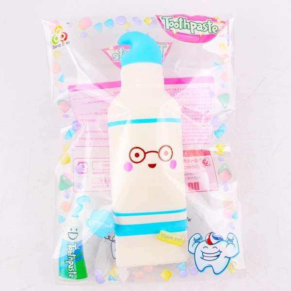 Mainan Squishy Bentuk Pasta Gigi 17 Cm Lembut Rising Lambat dengan Kemasan Kaus