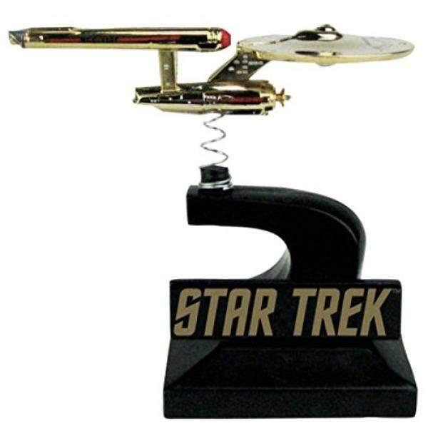 Sdcc 2016 Star Trek: seri Asli Enterprise Monitor Mate Bobble Kapal 24 K Berlapis Emas-Eksklusif Edisi Terbatas 0819/1260-Intl