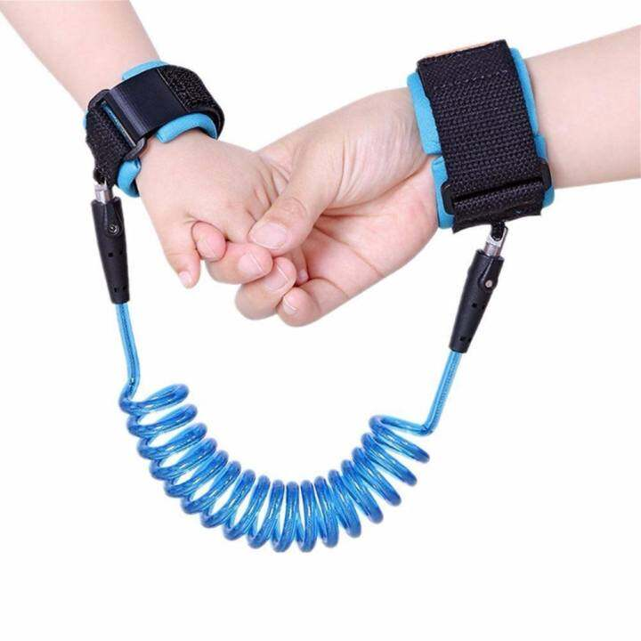 1.5M Adjustable Kids Safety Anti-lost Wrist Band Toddler Harness Leash Strap - [Sky Blue]