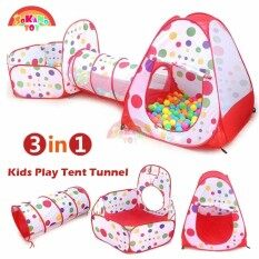 SOKANO TOY 3 In 1 Kids Play Tent Tunnel Play House Children Baby Indoor Outdoor Toys  sc 1 st  Lazada & Play Tents u0026 Tunnels - Buy Play Tents u0026 Tunnels at Best Price in ...