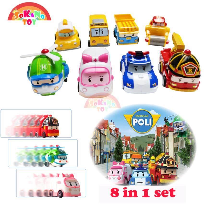 SOKANO TOY Robocar Poli P5 Vehicle Set (8 in 1)