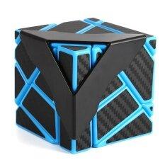Veecome Kecepatan Soomth Serat Karbon 3X3 Kubus Puzzle Biru & Hitam untuk Anak-anak