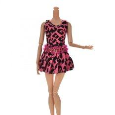 Sporter Rose Leopard Vest Dress For 11 Barbies Doll By Beauty Wisdom.