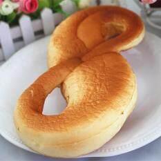 Licin Jumbo 8 Berbentuk Roti 28 Cm Lambat Rising Roti Kaus Hangat Huruf Mainan