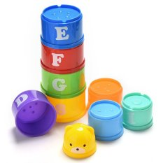 Stack & Nest Cups Plastic Cups Rainbow Stacking Tower Educational Kids Toy By Jettingbuy.