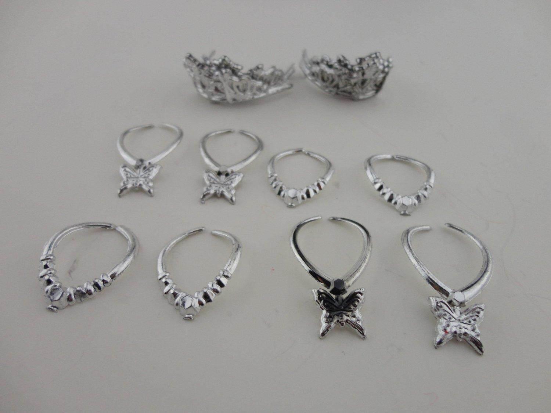 Bintang Mall Kelompok 12 Pieces Perhiasan Di Perak Plastik 8 Kalung ATAU 4 Mahkota Dibuat Agar Agree With His Boneka Barbie -Internasional