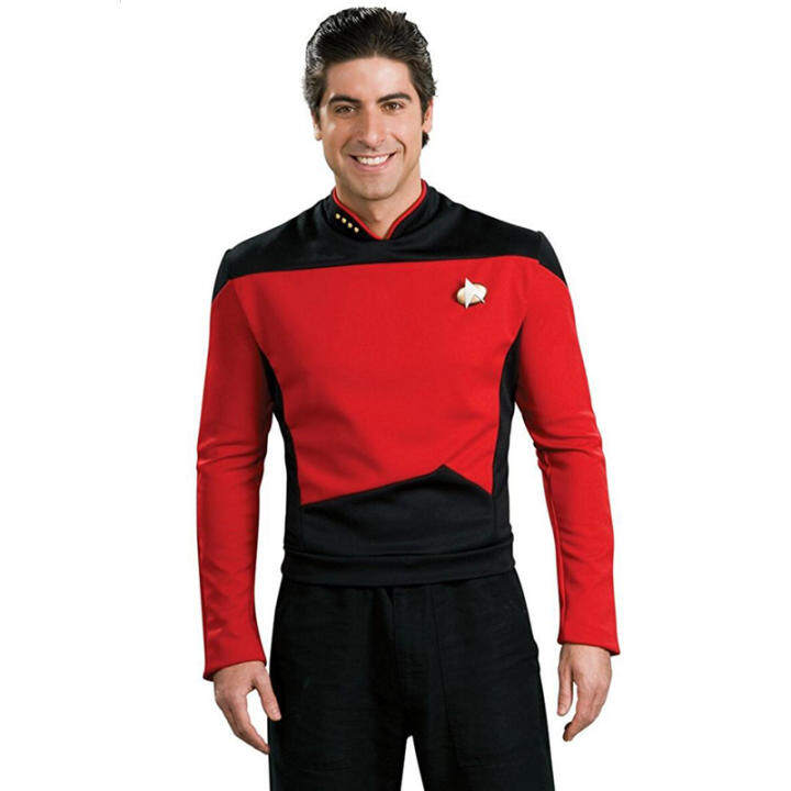 Star Trek TNG Star Trek of next Generation Shirt Uniform Halloween M·PARTY Men's Cosplay Costumes