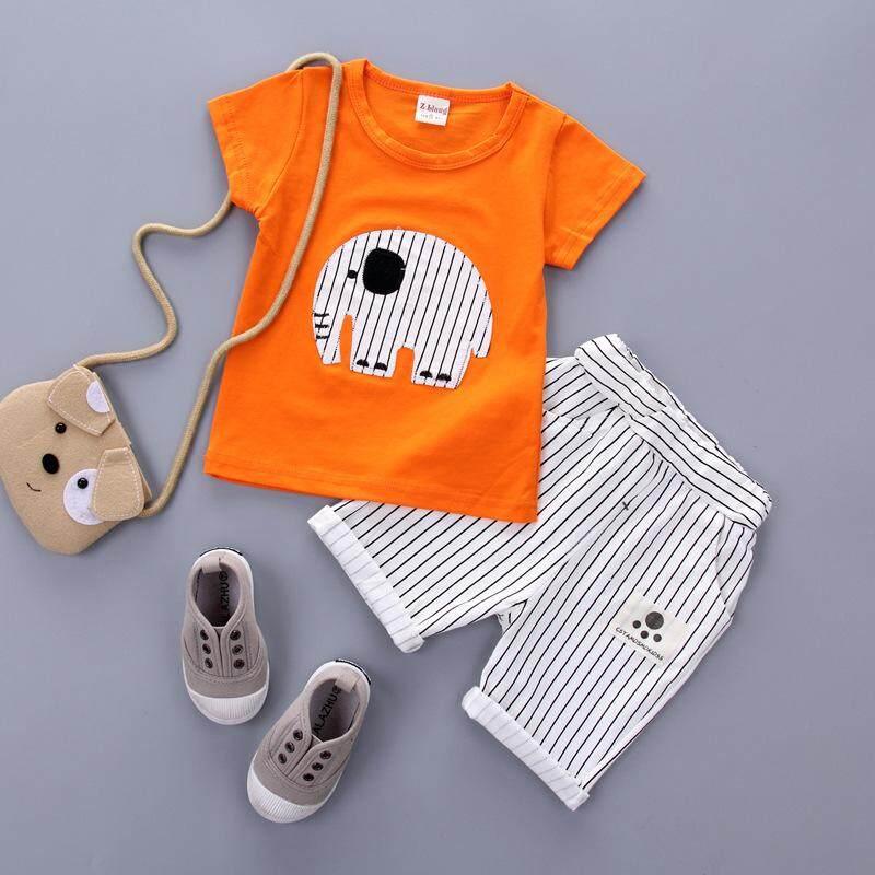 Summer Boys Clothes 2017 Fashion Kids Children Clothing Set 100% Cotton t shirt+Shorts