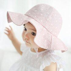 Summer Outdoor Baby Girl Visor Cotton Sun Cap Floral Prints Baby Beach Bucket  Hat Brim Sun a86d3febdce6