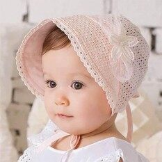Mother & Kids Girls' Baby Clothing Cute Newborn Baby Infant Girl Comfy Bowknot Hospital Cap Beanie Hat 0-6 Months 2019 Latest Style Online Sale 50%