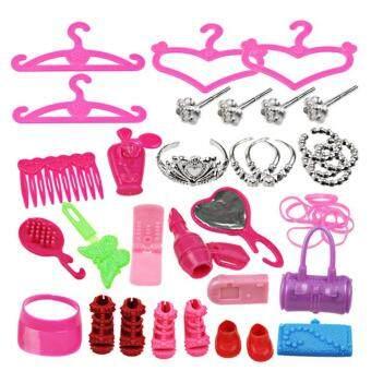 SunnyShop40 Pcs Fashion Barbie Accessory Sets Toy for Barbie Dolls