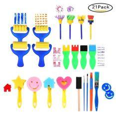Art Sets Children Painting Tools Set With Sponge Paint Brushes Palette And Apron 22 Pieces Crafts Diy Kids Learning Drawing Tool Art Set Painting Supplies