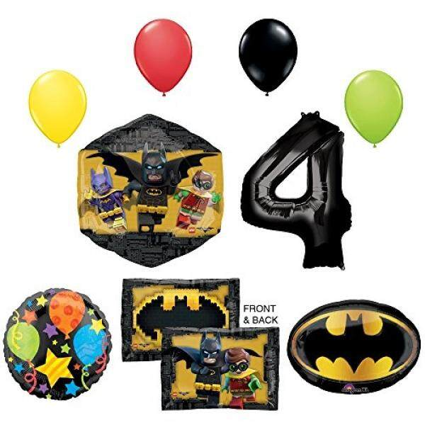 The Lego Batman Movie 4th Birthday Party Supplies And Balloon Decorations