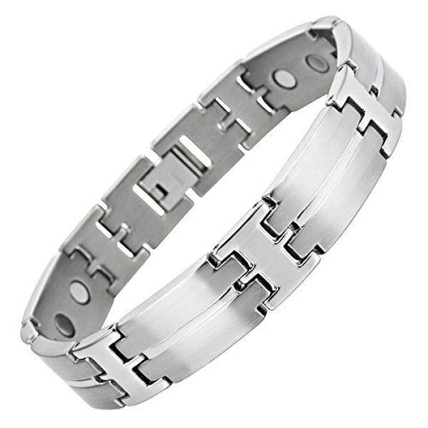 Anium Magnetic Therapy Bracelet For Arthritis Pain Relief Metal Colour Size Adjusting Tool And Gift Box