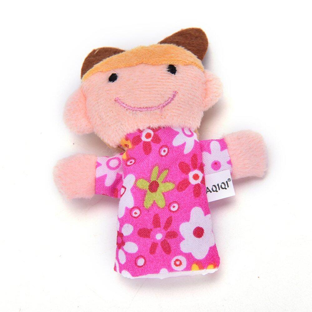 Baby Talk Finger Puppet Family Boneka Jari Keluarga Isi 6 Pcs 10 Satwa Lucu Animal Top Kain Mainan Bayi Story Kid Hadiah Intl