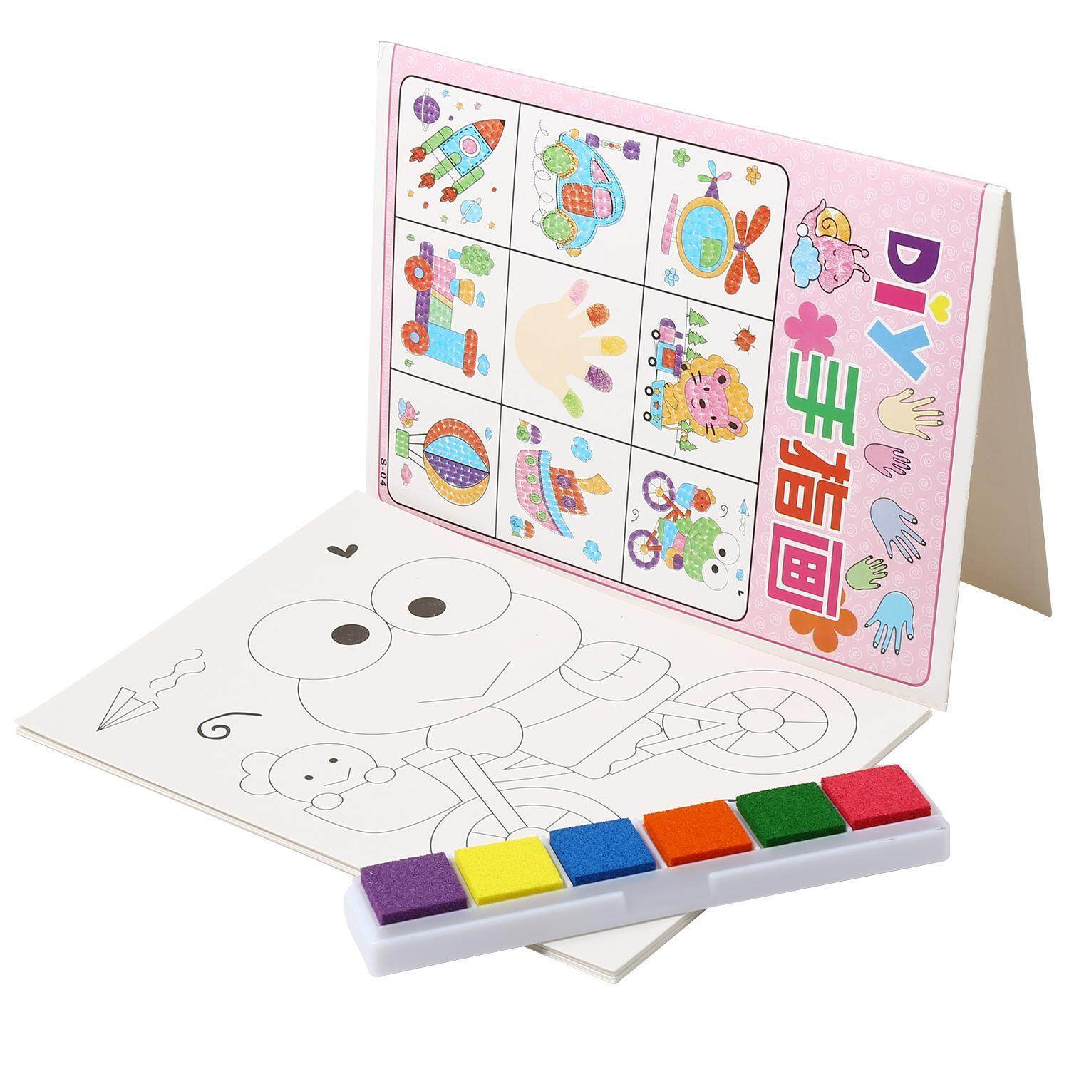 Toprank Colorful Fingerpaint Kit Kid Finger Painting Craft Set Drawing DIY Education Toy ( Neutral ) - intl
