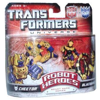 Transformers Universe Beast Wars Series Robot Heroes 2 Pack 5.1cm Tall Robot Mini Figure - Cheetor vs. Blackarachnia (Note: These figures do not transform) - intl