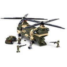 Transport Helicopter Plastic Building Blocks Colorful By Sweethome.