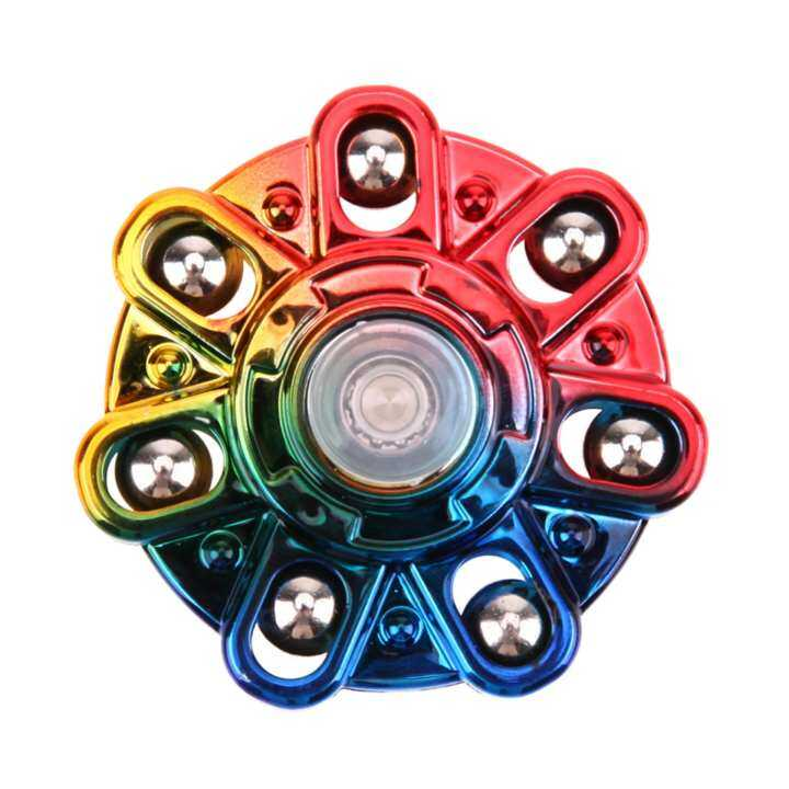 Tri-Spinner Fidget Toy Electroplated EDC Hand Spinner Stress Relieve Toy(Multicolor) (MY)