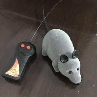 Price Checker Rumit Pengendali Jarak Jauh RC Nirkabel Meniru Tikus Mainan untuk Novelty Hewan Kucing Anjing