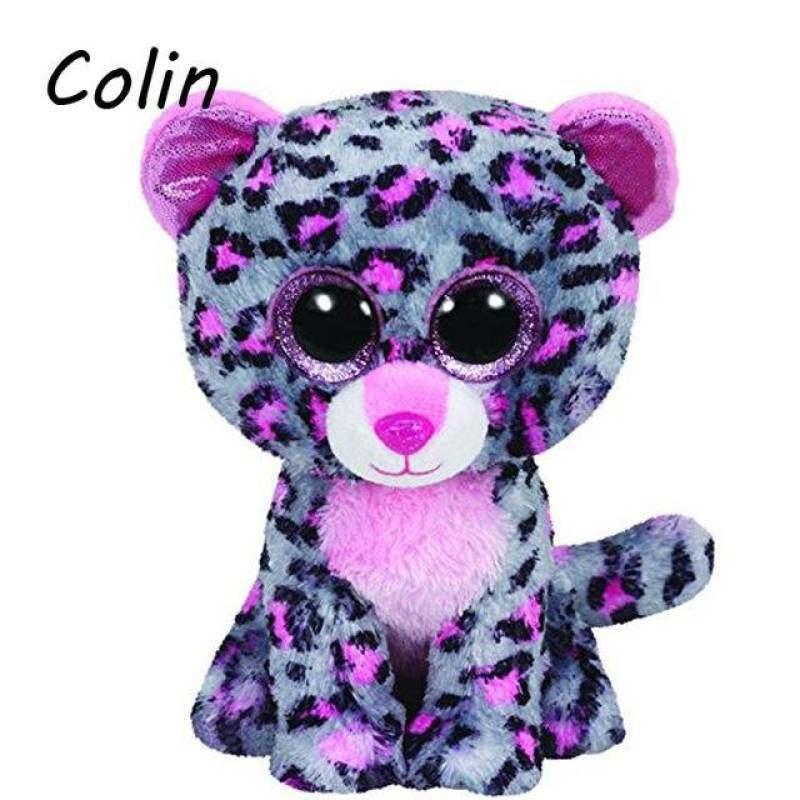 24b2645c92f MYR 37. Ty Beanie Boos Original Big Eyes Plush Toy Doll Child Birthday  Tasha The Grey and Pink Leopard Baby 15cm ...