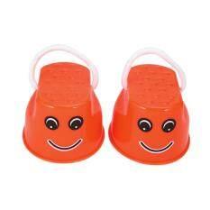 Hình ảnh Ubest Children Kids Outdoor Fun Walk Stilt Jump Smile Face Balance Training Toy Orange